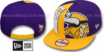 Vikings NE-NC DOUBLE COVERAGE SNAPBACK Hat by New Era