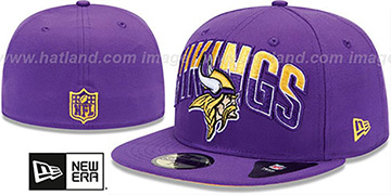 Vikings NFL 2013 DRAFT Purple 59FIFTY Fitted Hat by New Era