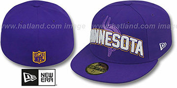 Vikings 'NFL ONFIELD DRAFT' Purple Fitted Hat by New Era