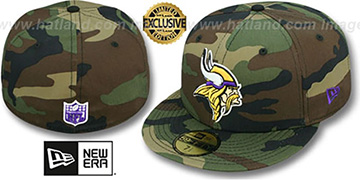 Vikings NFL TEAM-BASIC Army Camo Fitted Hat by New Era