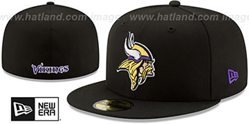 Vikings NFL TEAM-BASIC Black Fitted Hat by New Era