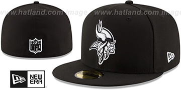 Vikings NFL TEAM-BASIC Black-White Fitted Hat by New Era