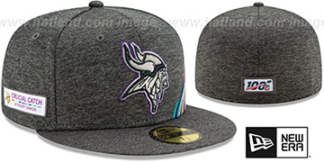 Vikings 'ONFIELD CRUCIAL CATCH' Grey Fitted Hat by New Era