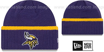 Vikings RIBBED-UP Purple Knit Beanie Hat by New Era
