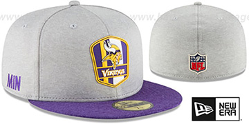 Vikings 'ROAD ONFIELD STADIUM' Grey-Purple Fitted Hat by New Era