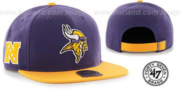 Vikings SUPER-SHOT STRAPBACK Purple-Gold Hat by Twins 47 Brand