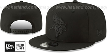 Vikings TEAM-BASIC BLACKOUT SNAPBACK Hat by New Era