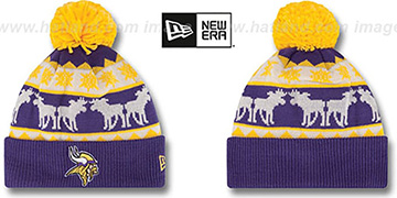Vikings THE-MOOSER Knit Beanie Hat by New Era