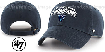 Villanova 3X NATIONAL CHAMPS STRAPBACK Hat by Twins 47 Brand