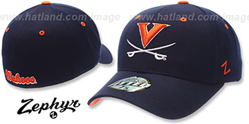 Virginia 'DH' Fitted Hat by ZEPHYR - navy