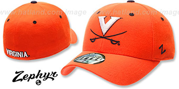 Virginia 'DH' Orange Fitted Hat by Zephyr