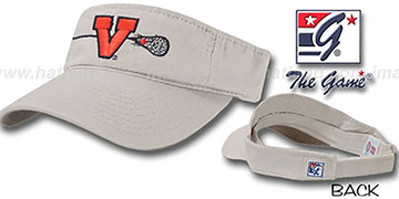 Virginia 'LACROSSE' Visor by the Game - stone
