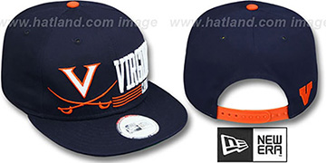 Virginia 'RETRO-SNAPBACK' Navy Hat by New Era