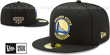 Warriors 2018 FINALS CHAMPIONS Black Fitted Hat by New Era