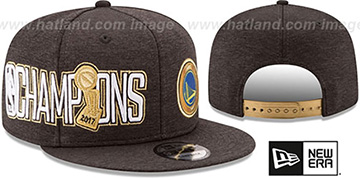 Warriors '2017 CHAMPIONS' Black 9FIFTY Snapback Hat by New Era