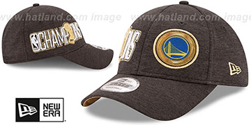Warriors '2017 CHAMPIONS' Black 9FORTY Snapback Hat by New Era