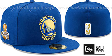 Warriors 2017 FINALS CHAMPIONS Royal Fitted Hat by New Era