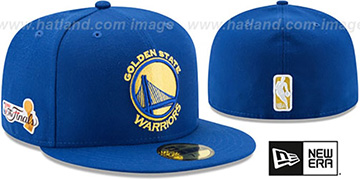 Warriors '2017 FINALS' Royal Fitted Hat by New Era
