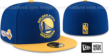 Warriors '2017 FINALS' Royal-Gold Fitted Hat by New Era