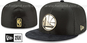 Warriors '2017 ONCOURT' Black-Gold Fitted Hat by New Era