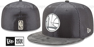 Warriors '2017 ONCOURT' Charcoal Fitted Hat by New Era