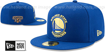 Warriors 2018 FINALS CHAMPIONS Royal Fitted Hat by New Era