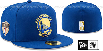 Warriors 2018 FINALS Royal Fitted Hat by New Era