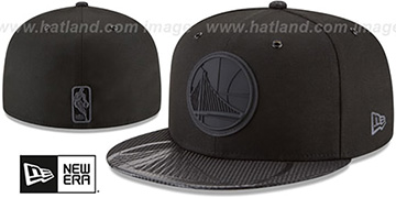 Warriors '2018 NBA ONCOURT ALL-STAR' Black-Black Fitted Hat by New Era