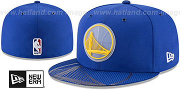 Warriors 2018 NBA ONCOURT ALL-STAR Royal Fitted Hat by New Era