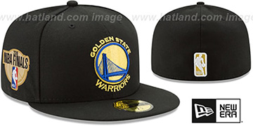 Warriors 2019 FINALS Black Fitted Hat by New Era