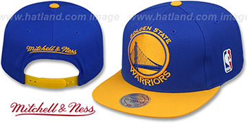 Warriors 2T XL-LOGO SNAPBACK - 2 Royal-Gold Hat by Mitchell and Ness