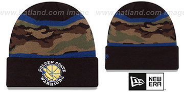 Warriors ARMY CAMO FILLZ Knit Beanie Hat by New Era
