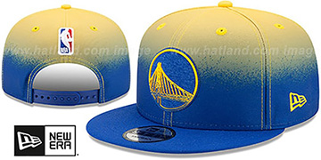 Warriors 'BACK HALF FADE SNAPBACK' Hat by New Era