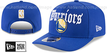Warriors CLASSIC-CURVE SNAPBACK Royal Hat by New Era