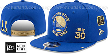 Warriors CURRY 'SUPER-STAR SNAPBACK' Royal Hat by New Era