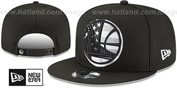 Warriors 'FLAG FILL INSIDER SNAPBACK' Black Hat by New Era