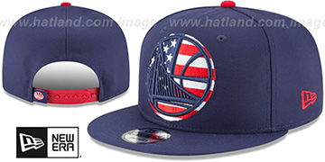 Warriors 'FLAG FILL INSIDER SNAPBACK' Navy Hat by New Era