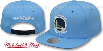 Warriors FOAM 'POWDER SNAPBACK' Hat Mitchell and Ness