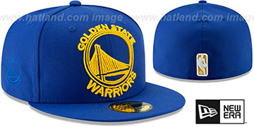 Warriors FRAME-FRONT Royal Fitted Hat by New Era