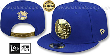 Warriors 'GOLD METAL-BADGE SNAPBACK' Royal Hat by New Era