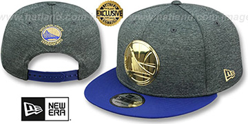 Warriors GOLD METAL-BADGE SNAPBACK Shadow Tech-Royal Hat by New Era