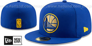 Warriors GOLD METALLIC STOPPER Royal Fitted Hat by New Era