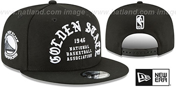 Warriors 'GOTHIC-ARCH SNAPBACK' Black Hat by New Era