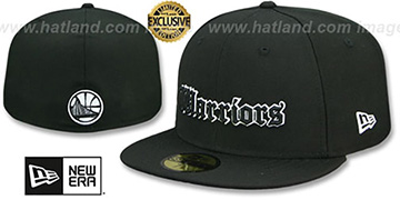 Warriors GOTHIC TEAM-BASIC Black Fitted Hat by New Era