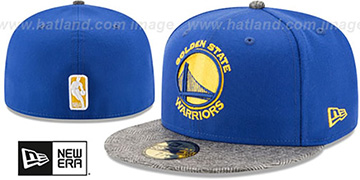 Warriors 'GRIPPING-VIZE' Royal-Grey Fitted Hat by New Era