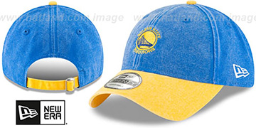 Warriors GW RUGGED CANVAS STRAPBACK Royal-Gold Hat by New Era