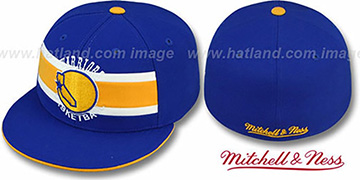 Warriors 'HARDWOOD TIMEOUT' Royal Fitted Hat by Mitchell & Ness