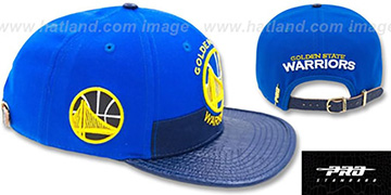 Warriors HORIZON STRAPBACK Royal-Navy Hat by Pro Standard