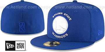 Warriors 'IRIDESCENT HOLOGRAM' Royal Fitted Hat by New Era