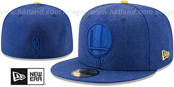 Warriors JUMBO HEATHER Royal Fitted Hat by New Era